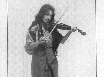opal whiteley with violin